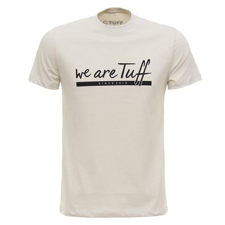 Camiseta Masculina Bege Tuff 28136
