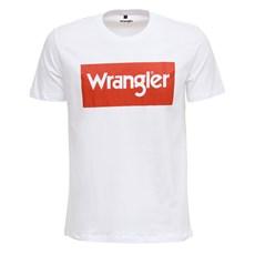 Camiseta Masculina Branca Básica Original Wrangler 27884