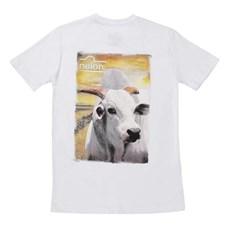 Camiseta Masculina Branca Estampada - Nelore 17484