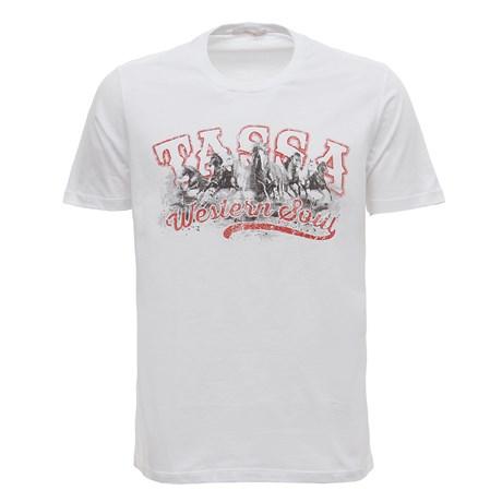 Camiseta Masculina Branca Estampada Tassa 29926
