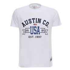 Camiseta Masculina Branca USA Austin Western 28731