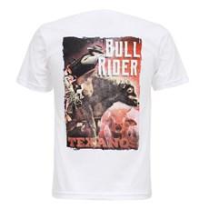 Camiseta Masculina Bull Rider Branca Texas Diamond 27830