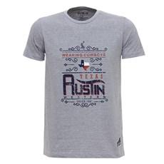 Camiseta Masculina Cinza Austin Western Estampada 28019