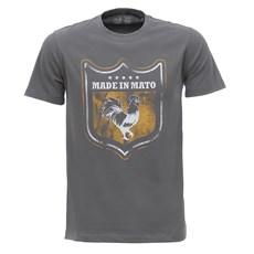 Camiseta Masculina Cinza Estampada Made In Mato 28514