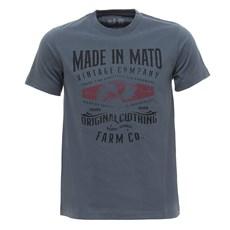 Camiseta Masculina Cinza Estampada Made In Mato 29966