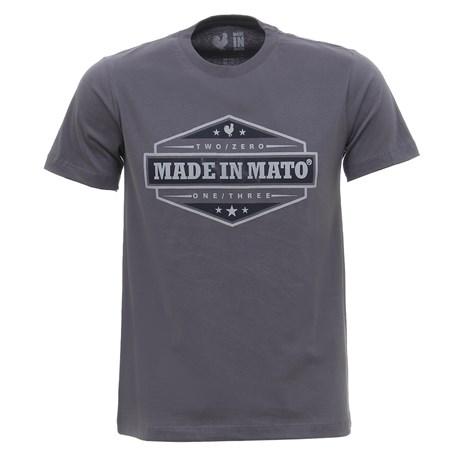 Camiseta Masculina Cinza Estampada Made In Mato 29967
