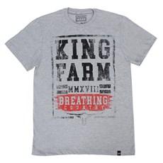 Camiseta Masculina Cinza King Farm 23749