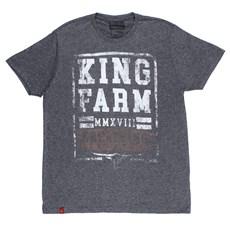 7b4d8ec5a01b0 Camiseta Masculina Cinza King Farm 24165 ...