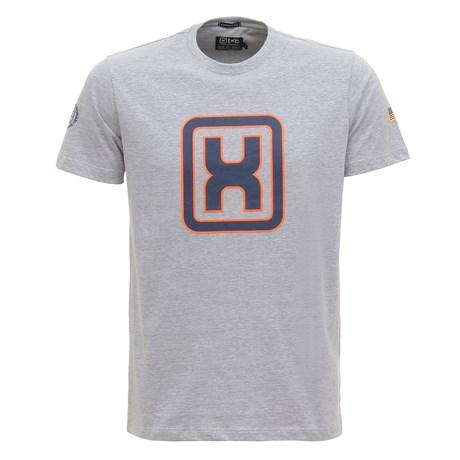 Camiseta Masculina Cinza Mescla Estampada TXC 30187