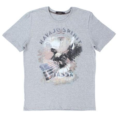 Camiseta Masculina Cinza Tassa 23118