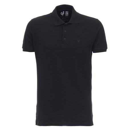 Camiseta Masculina Gola Polo Preta  Made In Mato 28513