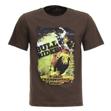 Camiseta Masculina Marrom Bull Rider Texas Diamond 27854
