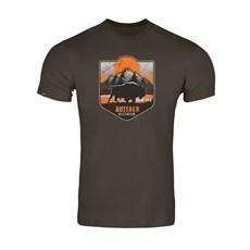 Camiseta Masculina Marrom Estampada Buffalo 30394