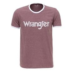 Camiseta Masculina Mescla Vermelha Original Wrangler 2612