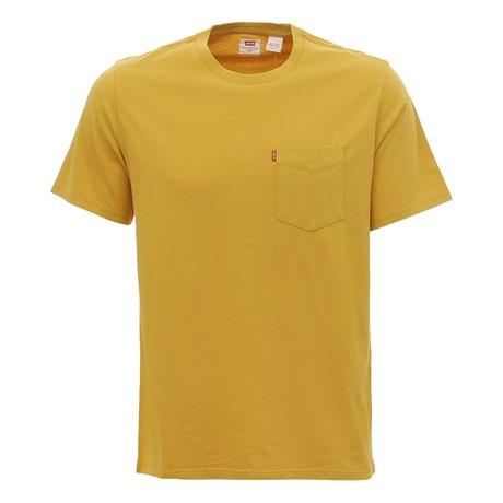 Camiseta Masculina Mostarda com Bolso Levi's 30005