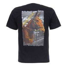 Camiseta Masculina Muladeiros Preta Texas Diamond 27824