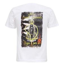 Camiseta Masculina Nossa Senhora Aparecida Branca Texas Diamond 27827