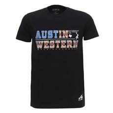 Camiseta Masculina Preta Austin Western 28447