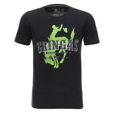 Camiseta Masculina Preta Estampada Gringa's Original 26773
