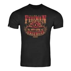 Camiseta Masculina Preta Estampada Invictus 30392