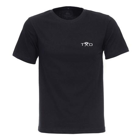 Camiseta Masculina Preta Montaria em Touro Texas Diamond 27843