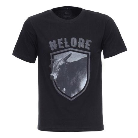 Camiseta Masculina Preta Nelore Texas Diamond 27833