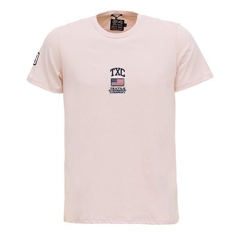 Camiseta Masculina Rosa Claro USA TXC 29359