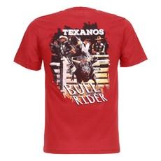 Camiseta Masculina Texanos Bull Rider Vermelha Texas Diamond 27850