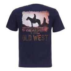 Camiseta Masculina The Old West Azul Marinho Texas Diamond 27822