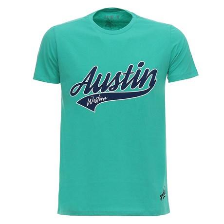 Camiseta Masculina Verde Austin Western 28730