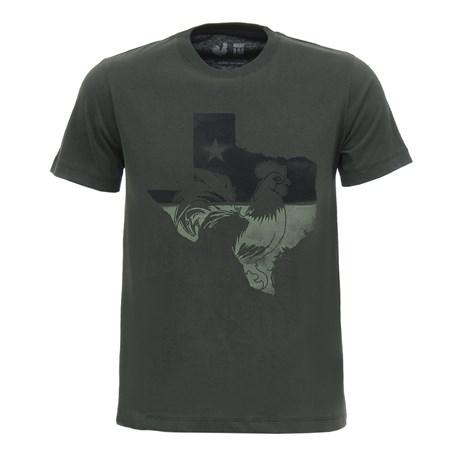 Camiseta Masculina Verde Estampada Made in Mato 28718
