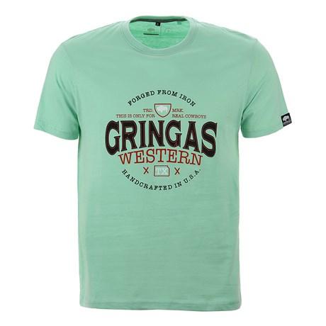 Camiseta Masculina Verde Estampada Original Gringa's 25672
