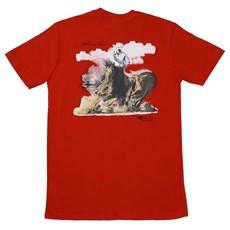 Camiseta Masculina Vermelha Cow Work Horse - ABQM