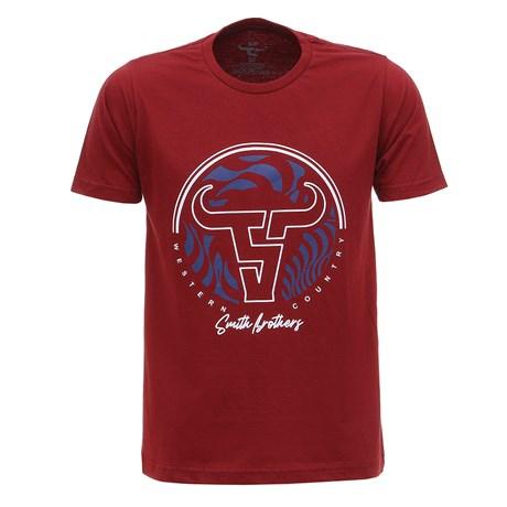 Camiseta Masculina Vermelha Estampada Smith Brothers 28177