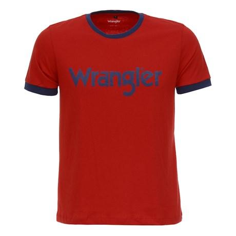 Camiseta Masculina Vermelha Wrangler Original 28521