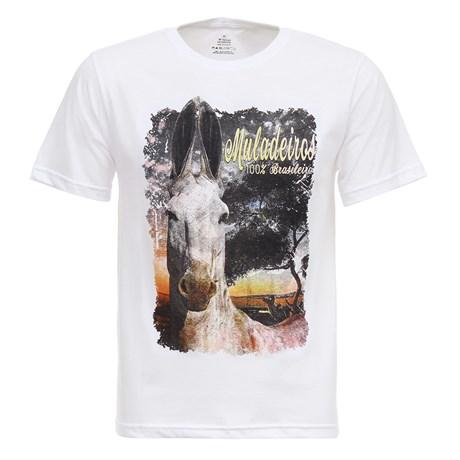 Camiseta Muladeiros Branca Masculina Texas Diamond 27848