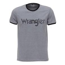 Camiseta Original Wrangler Masculina Cinza Mescla 26609