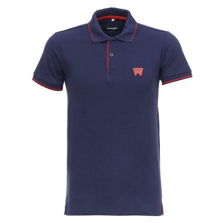 Camiseta Polo Azul Marinho Masculina Original Wrangler 28276