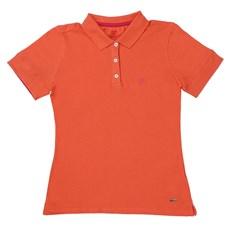 Camiseta Polo Feminina Laranja Wrangler 22055