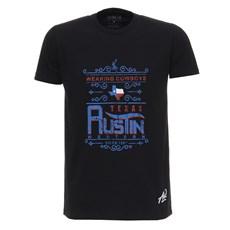 Camiseta Preta Estampada Austin Western 28020