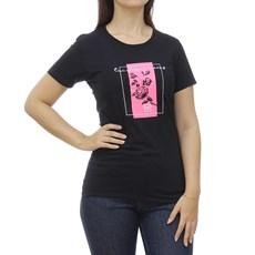 Camiseta Preta Estampada Feminina TXC 29085