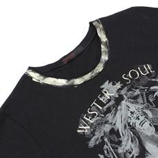 Camiseta Preta Feminina Tassa Gold 23121