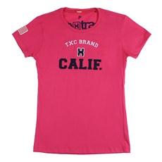 Camiseta Rosa Pink Feminina Estampada TXC 26075