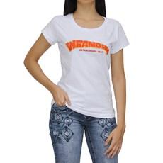 Camiseta T-Shirt Feminina Branca Wrangler 25972
