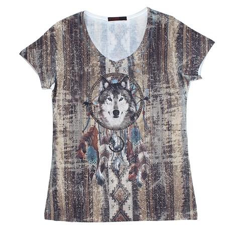 Camiseta Tassa Gold Feminina Estampada 22669