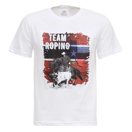 Camiseta Team Roping Branca Masculina Texas Diamond 27834