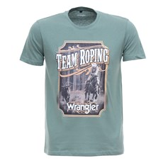 Camiseta Team Roping Verde Masculina Original Wrangler 27903