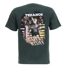 Camiseta Texanos Verde Texanos Bull Rider Texas Diamond 27846