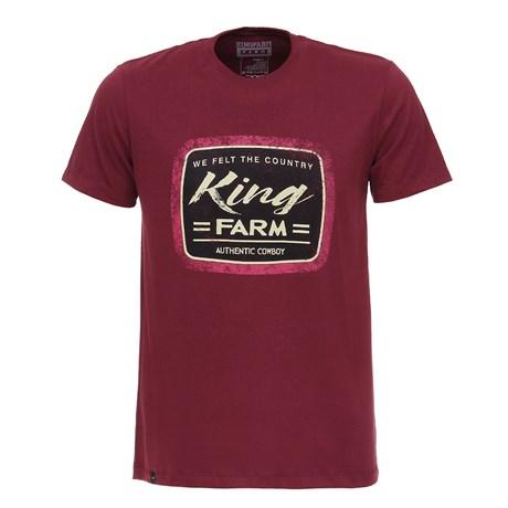 Camiseta Vinho Estampada Masculina King Farm Original 26704