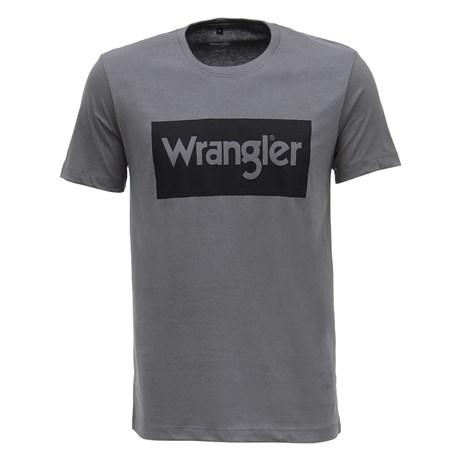 Camiseta Wrangler Original Masculina Cinza 27122